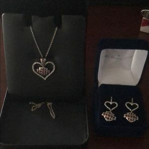 Harley Davidson necklace and earring set.